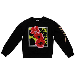 Girl Flower Crewneck Sweater - Il Bambino Store
