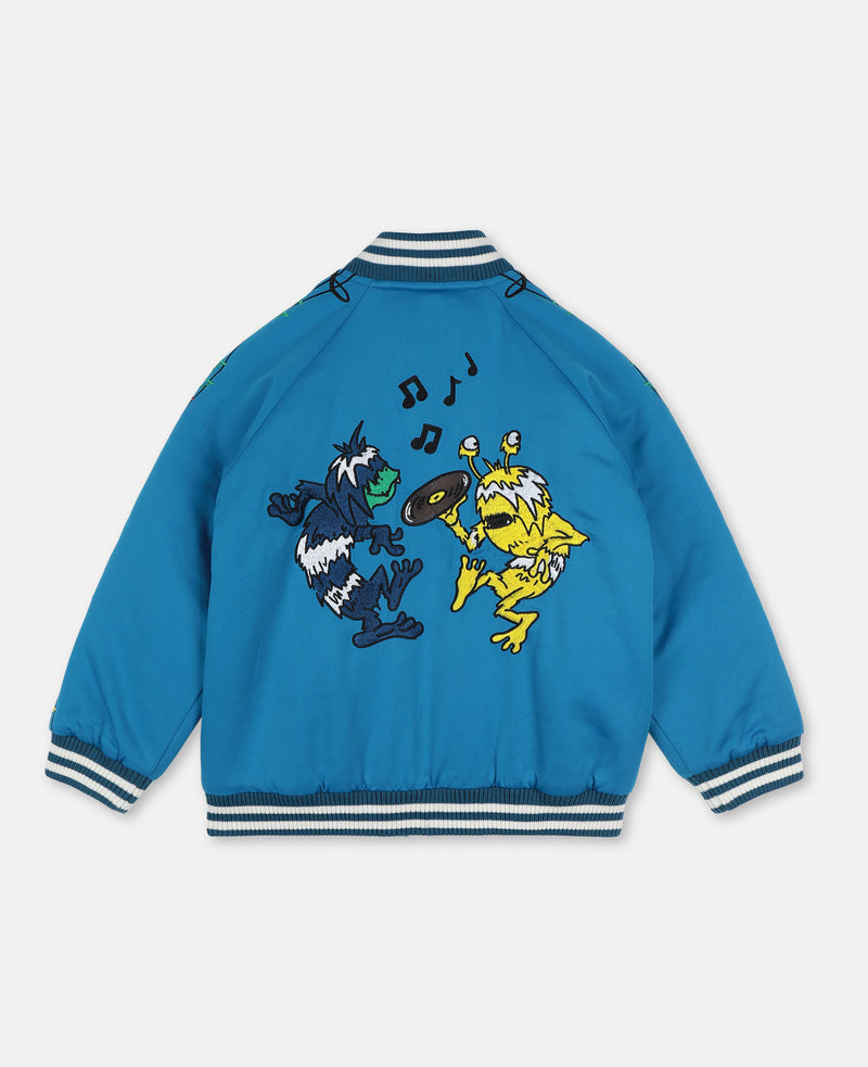 Music Notes Bomber Jacket - Il Bambino Store