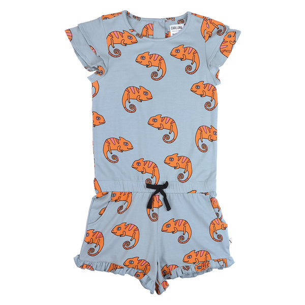 Chameleon Girl Jumpsuit (Arona Blue) - Il Bambino Store