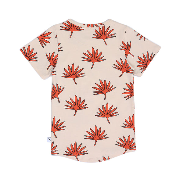 Palm Leaf T-Shirt (Crème Brulee) - il Bambino Store