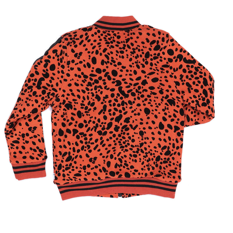 Spotted Animal Pumpkin Red Bomber Jacket - Il Bambino Store