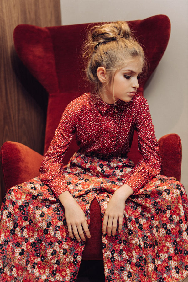 Culottes Floral Red - Il Bambino Store
