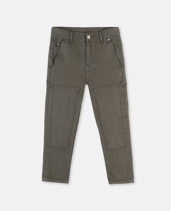 Boy Denim Trousers with Knee Patches - Il Bambino Store