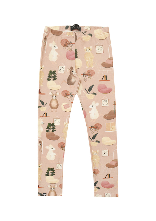 Leggings Pink Sweet Home Print - Il Bambino Store