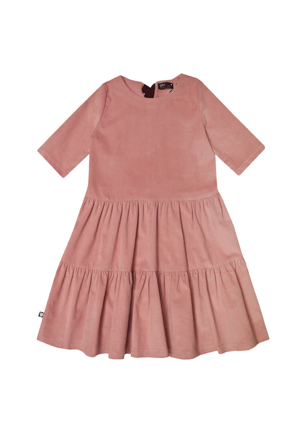 Dress Corduroy Pastel Pink with Two Frills - Il Bambino Store