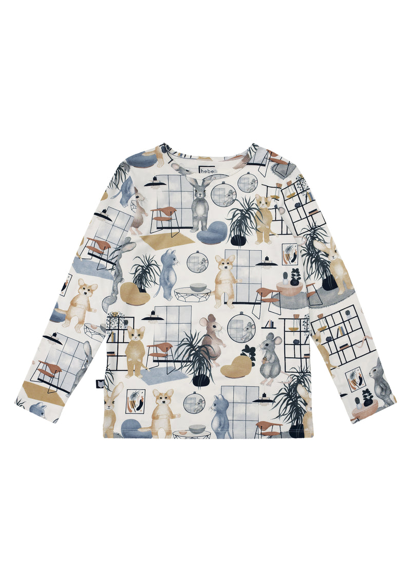 Top White Sweet Home Print - Il Bambino Store