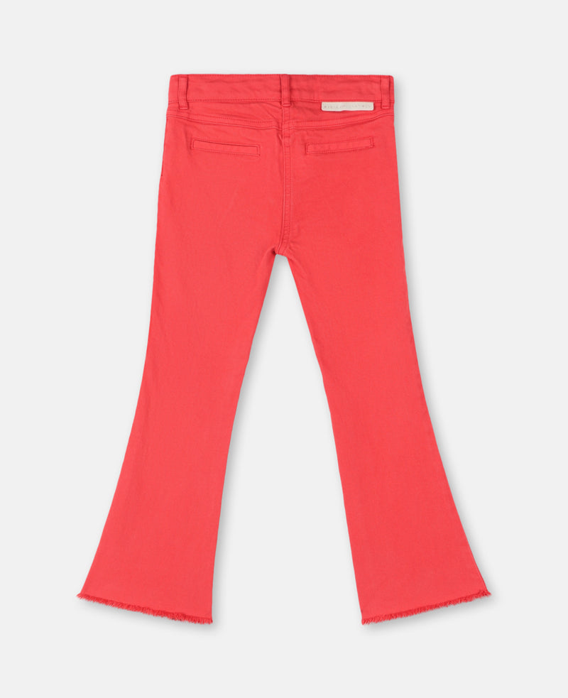 Girl Crop Flared Denim (Red) - Il Bambino Store