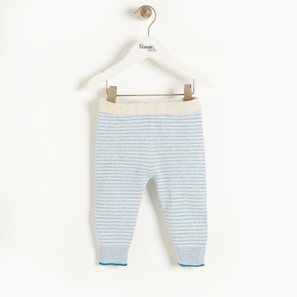 Halo Knitted Trouser (Blue) - Il Bambino Store
