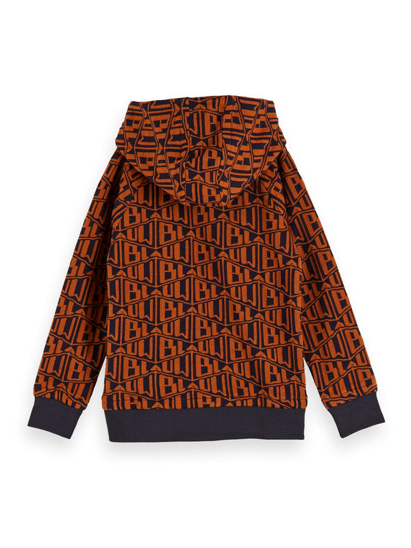 Boys All-Over Jacquard Pattern Sweat - il Bambino Store