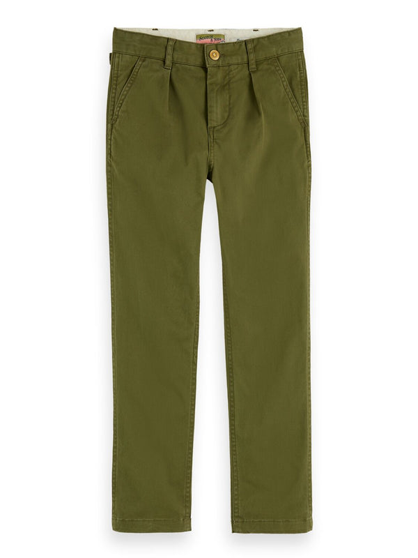 Boys Loose Fit Chino Pant (Military) - Il Bambino Store