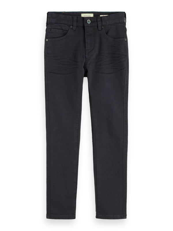 Boys Skinny Fit 5 Pocket Cotton Pants (Antra) - Il Bambino Store