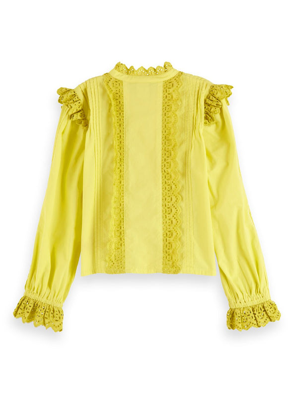 Lacy Long Sleeve Top for Girls - Il Bambino Store