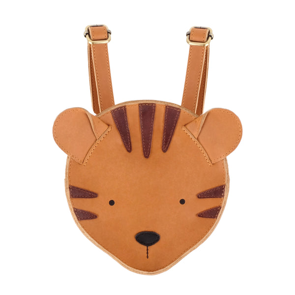 Kapi Backpack Tiger Camel Classic Leather - Il Bambino Store