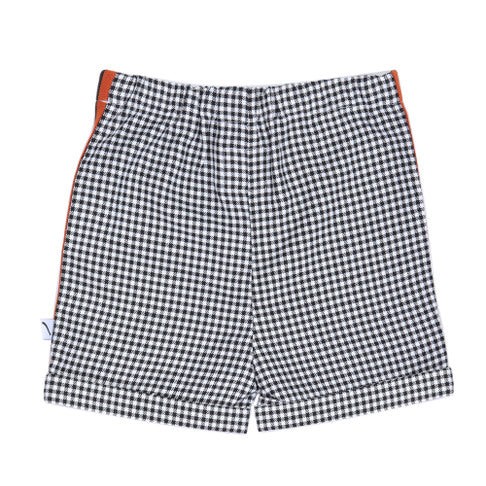 Mini Checkers Black and White Bermuda - Il Bambino Store