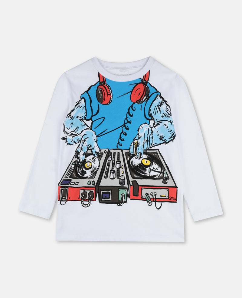 Long Sleeve Tee with Monster DJ - Il Bambino Store