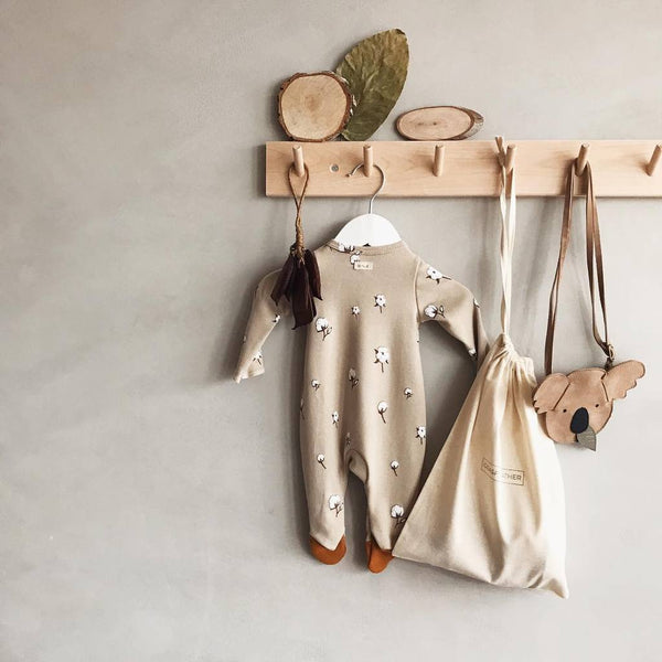 Cotton Field Suit with Contrast Feet - Il Bambino Store