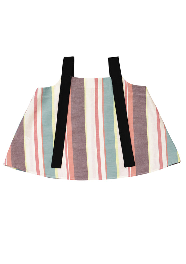 Top with Black Straps For Girls - Il Bambino Store