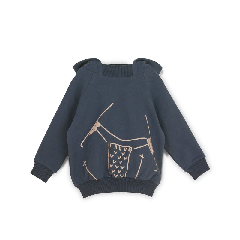 Slope Sweatshirt in Nocturnal Blue - Il Bambino Store