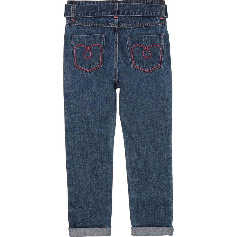 Stretch Denim Paperbag Waist Pants - Il Bambino Store