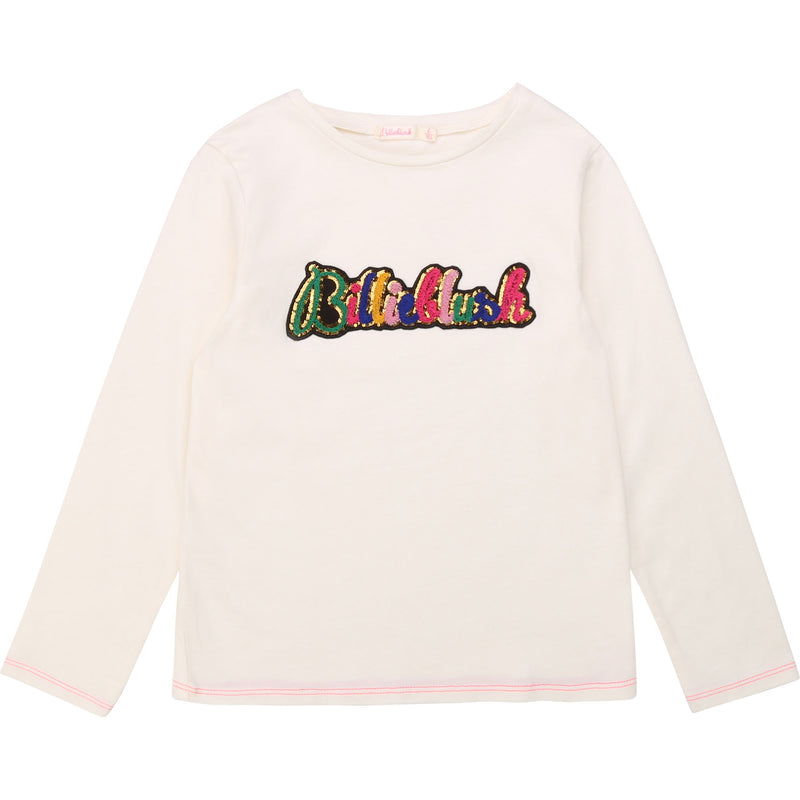Long Sleeve Tee with Multicolored Logo - Il Bambino Store