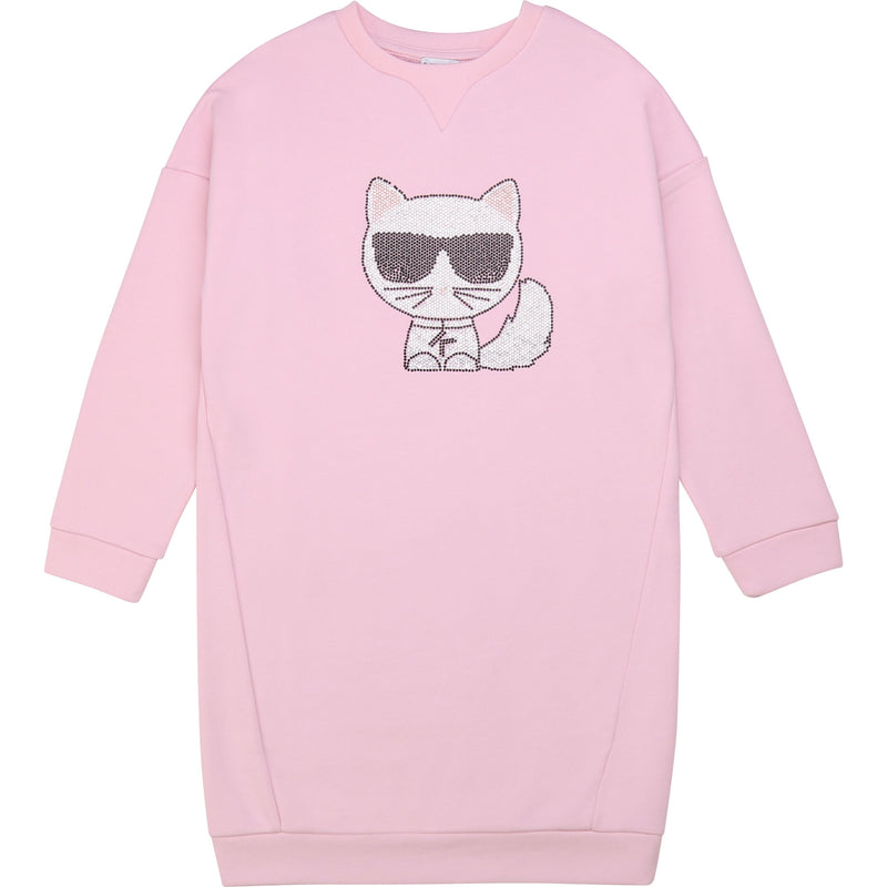 Girls Embellished Choupette Sweatdress - Il Bambino Store