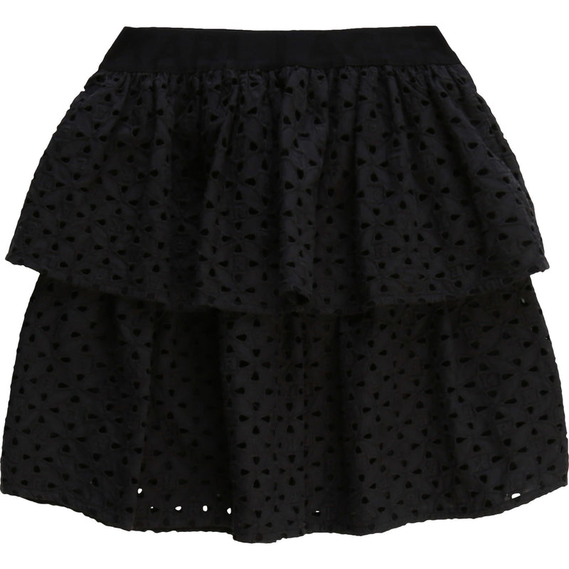 Eyelet Skirt with Logo Band - Il Bambino Store