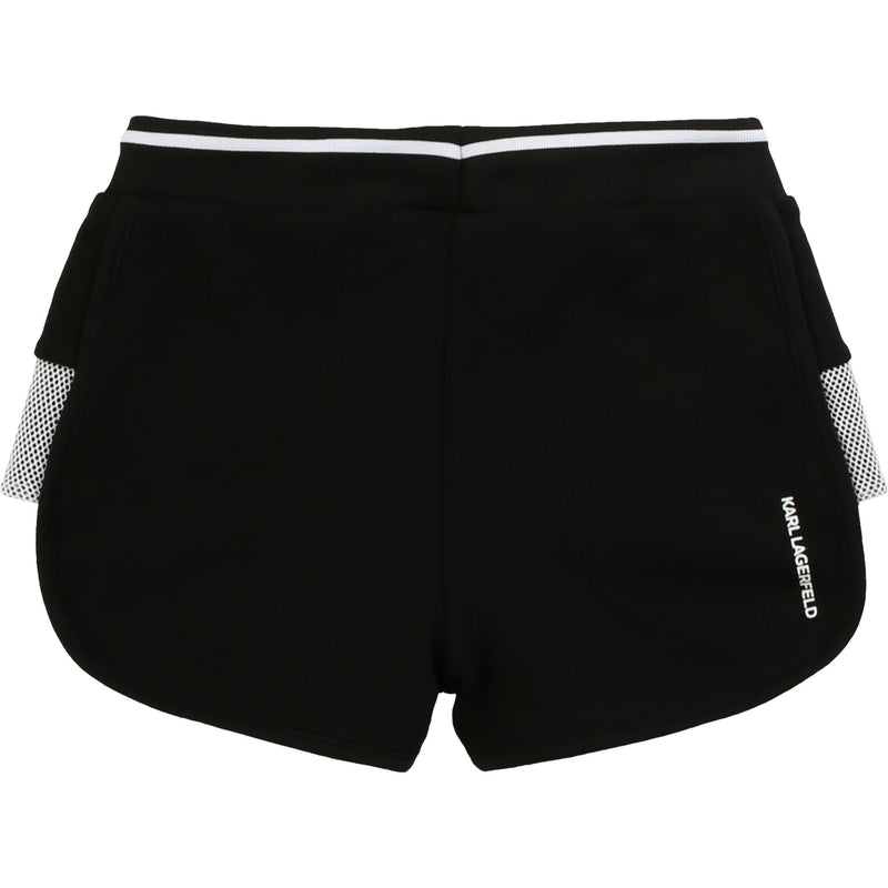 Sweatshorts with Side Panels and Small Logo Print On Front - Il Bambino Store