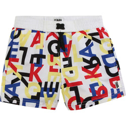 Multi-Colored Logo Print Swim Shorts - Il Bambino Store