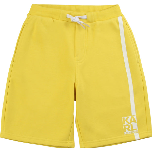 French Terry Sweatshorts with Logo Print On Side - Il Bambino Store