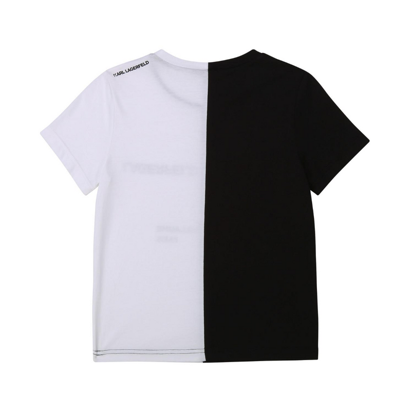 Short Sleeve Color-block Tee with Logo - Il Bambino Store
