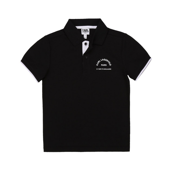 Short Sleeve Polo with Chest Logo - Il Bambino Store