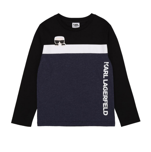 Long Sleeve Tee with Peek-a-Book Karl - Il Bambino Store