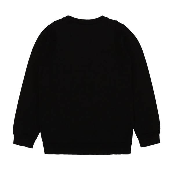 Knitted Sweater with High Density Karl Print - Il Bambino Store