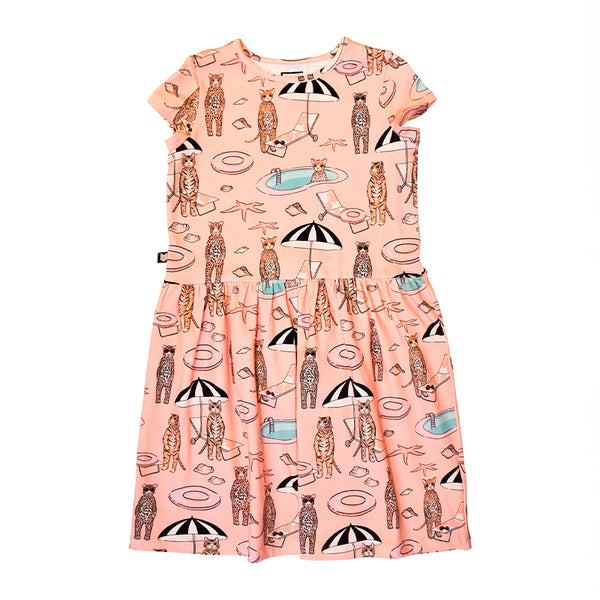 Dress with Pink Pool Print - Il Bambino Store