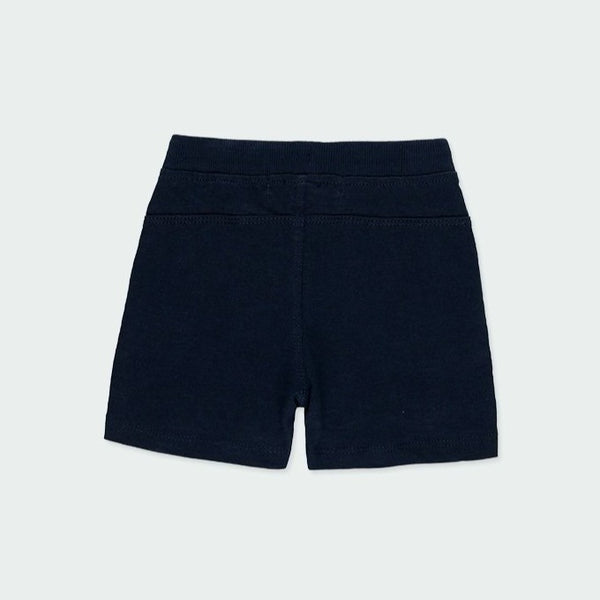 "Knit Bermuda Shorts Flame for boy ""Navy"" - Il Bambino Store"