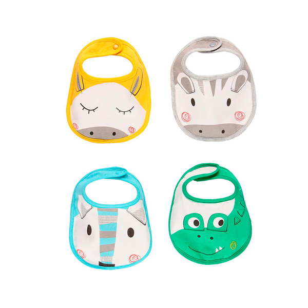 Pack 4 Bibs for Baby - il Bambino Store