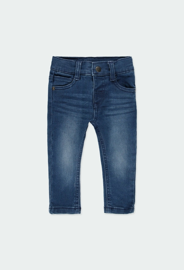 Blue Denim Stretch Trousers for Baby Boy - Il Bambino Store