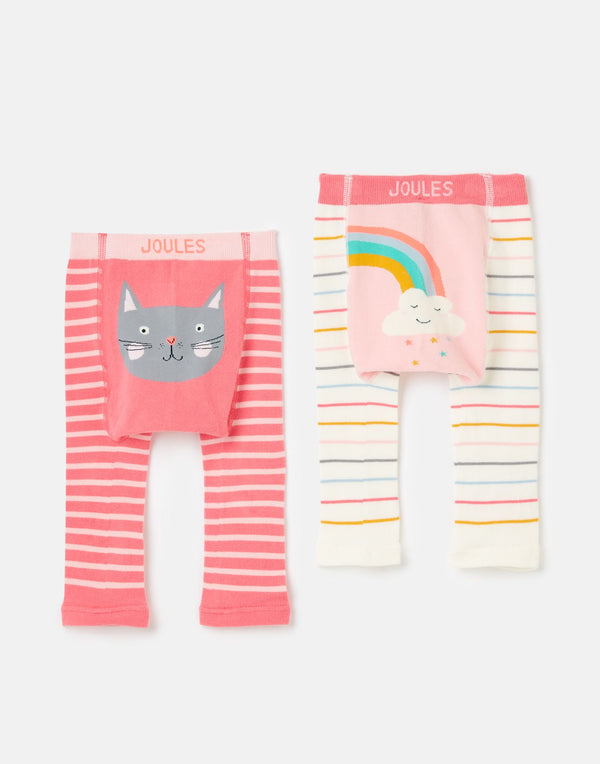 Lively Knit Leggings (Cat/Rainbow) - Il Bambino Store