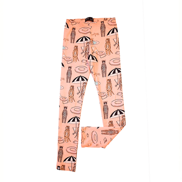 Leggings With Pink Pool Print - Il Bambino Store