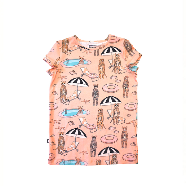 Top with Pink Pool Print For Girls - Il Bambino Store