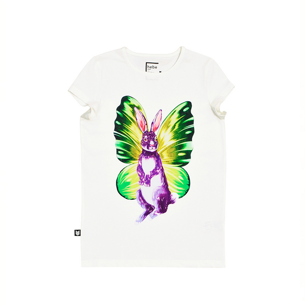 Top White with Butterfly Rabbit - Il Bambino Store