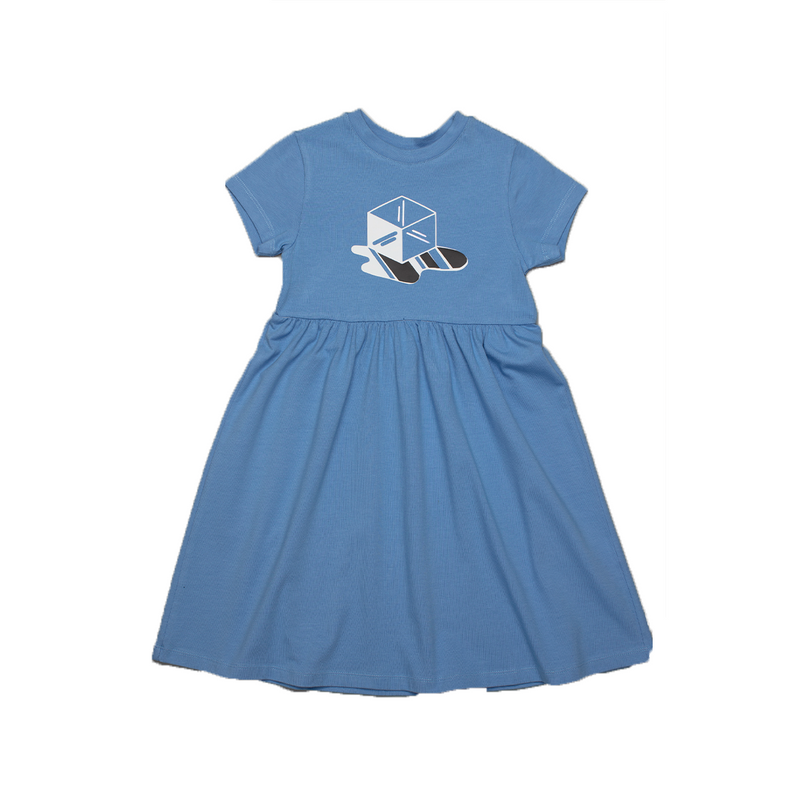 Ice Cube Skater Dress Powder Blue - il Bambino Store