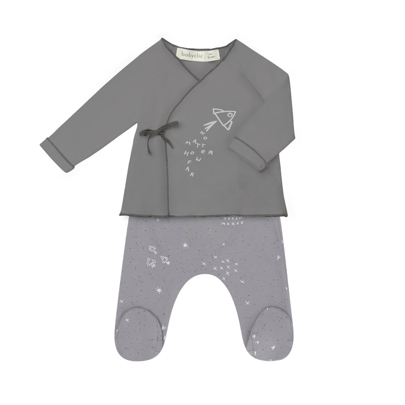 No Matter Jacket + Footed Pants - Il Bambino Store