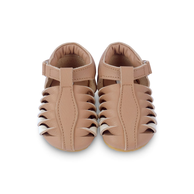 Elvie Praline Leather - Il Bambino Store