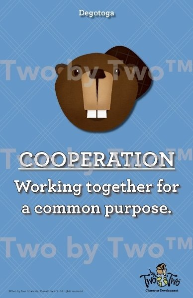 Cooperation Mascot Poster