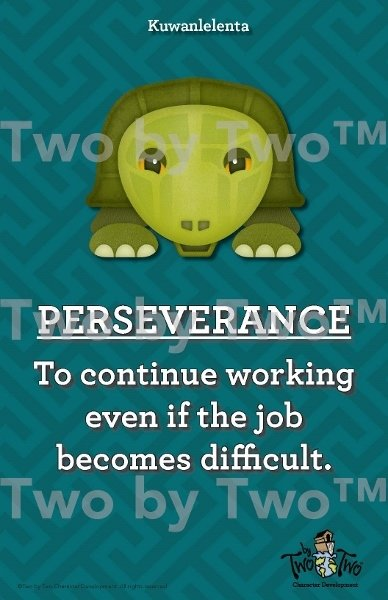 Perseverance Mascot Poster