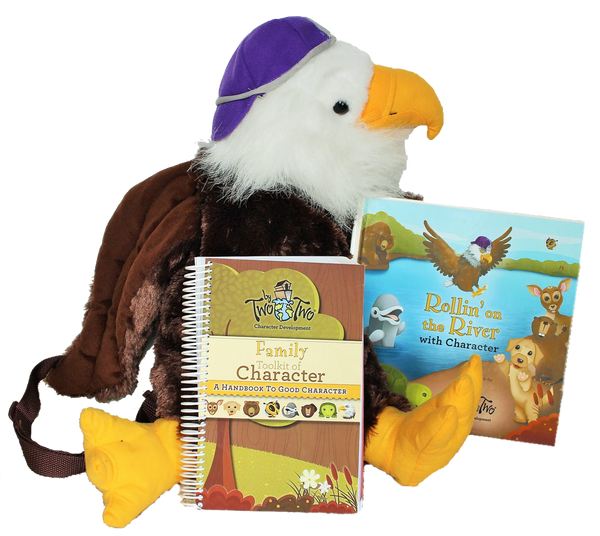 Family Toolkit of Character - includes Rollin' On the River Book, Handbook to Good Character, and Eagle Backpack