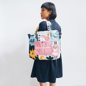 Clouds and Rabbit Totebag