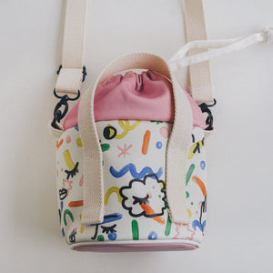 Happy Alone Bucket Bag