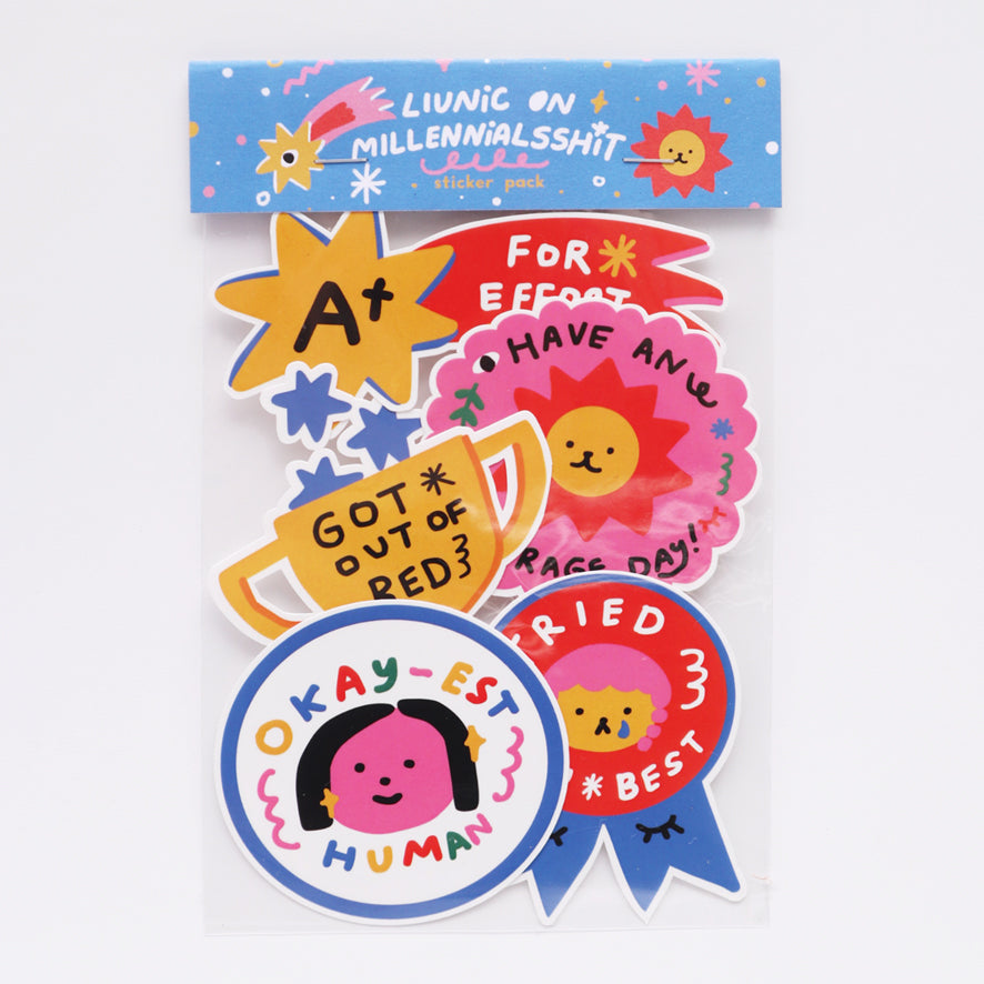 Liunic On Millennialsshit: Adulting Reward Sticker Pack